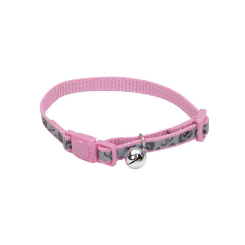 Coastal Lazer Brite Reflective Breakaway Cat Collar (3/8″ Wide)- Pink