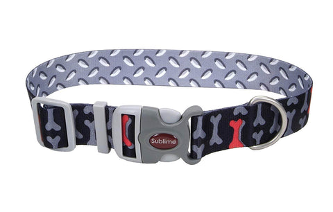 Coastal Sublime Adjustable Dog Collar- Bones