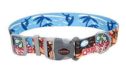 Coastal Sublime Adjustable Dog Collar- Beach