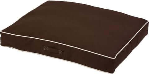 Dogs Gone Smart Canvas Rectangle Bed – Espresso