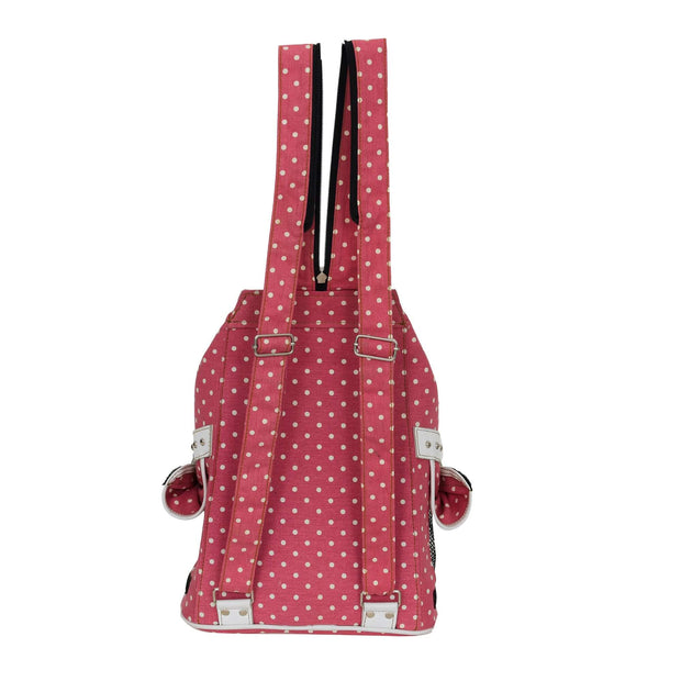Doggy Dolly Backpack For Dogs And Cats – Pink Polka Dots