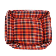 Checks Orange Lounger Bed For Dogs