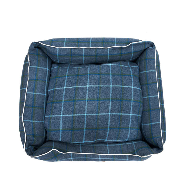 Checks Blue Lounger Bed For Dogs