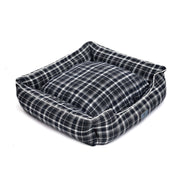 Checks Black Lounger Bed For Dogs