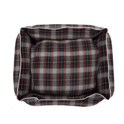Checks Brown  Lounger Bed For Dogs