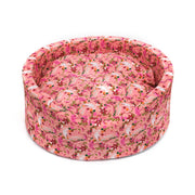 Printed Foam Basket Bed For Dogs