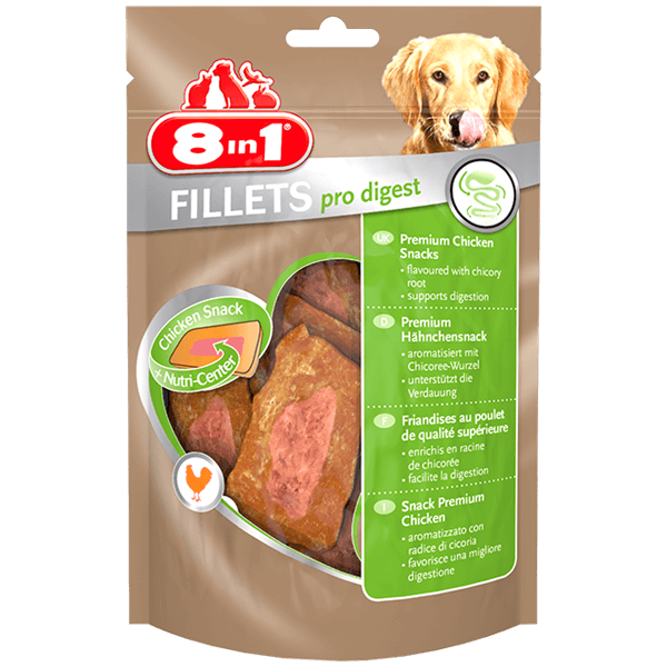 8in1 Fillets Pro Digest Chicken S 80g Treats For Dogs