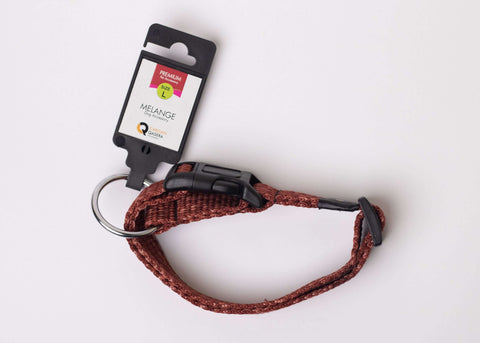 CQ Melange Brown Collar For Dogs