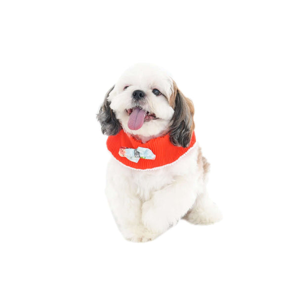 Cutomized Red Lace Dog Bandana With Easy To Use Adjustable Strap