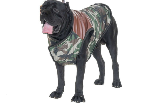 Fleece and Cotton Lining Extra Warm Camouflage Winter Jacket For Dogs