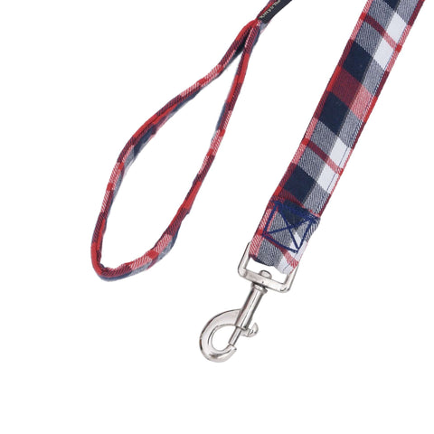Classic Designer Checkered Leash And Collar Set For Dogs