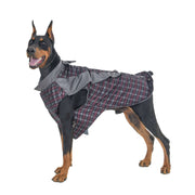 Classic Grey Checkered Customized Tuxedo for Dogs