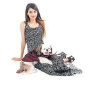Maroon Party Wear Customized Tuxedo for Dogs