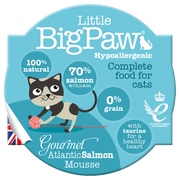 Little BigPaw Gourmet Atlantic Salmon Mousse For Cats (85 Gms)-Pack Of 8
