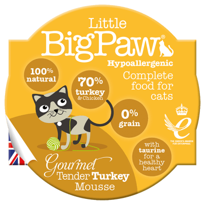 Little BigPaw Gourmet Tender Turkey Mousse For Cats (85 Gms)-Pack Of 8