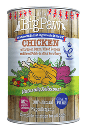 Little BigPaw Chicken with Green Beans, Mixed Peppers and Sweet Potato in a Rich Herb Gravy for Dogs (390 gms)