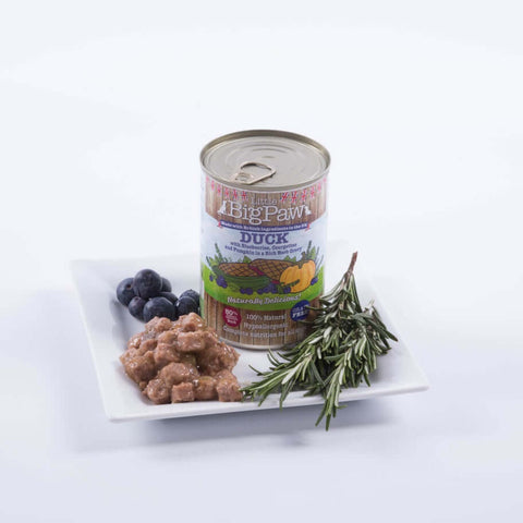 Little BigPaw Duck with Blueberries, Courgettes and Pumpkin in a Rich Herb Gravy for Dogs (390 gms)