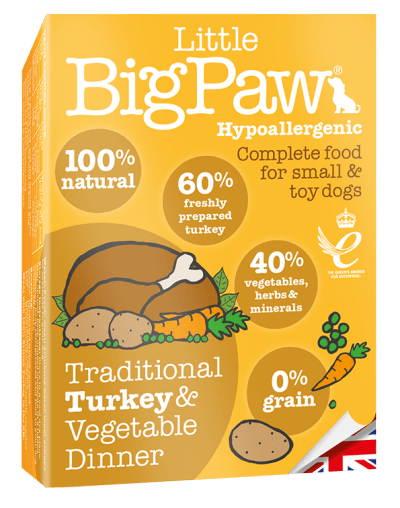 Little BigPaw Traditional Turkey & Vegetable Dinner for Dogs (150 gms)- Pack of 7