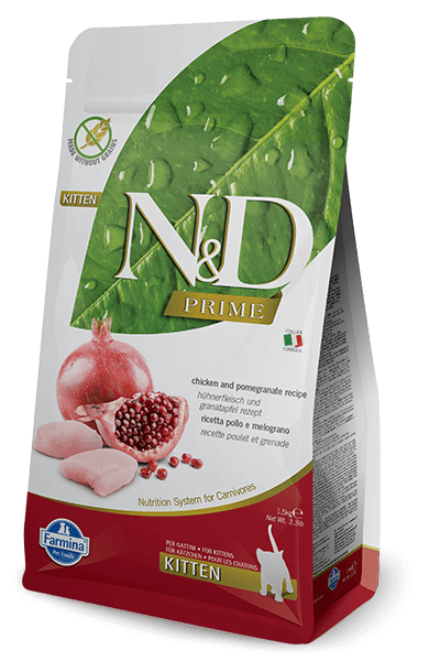 N&D Prime Grain Free Chicken & Pomegranate Kitten Food (All Breeds)