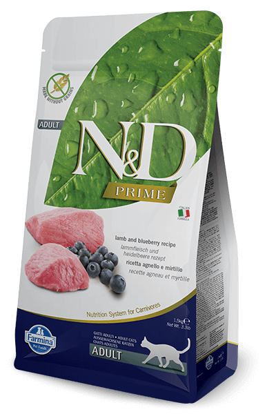 N&D Prime Grain Free Lamb & Blueberry Adult Cat Food (All Breeds)