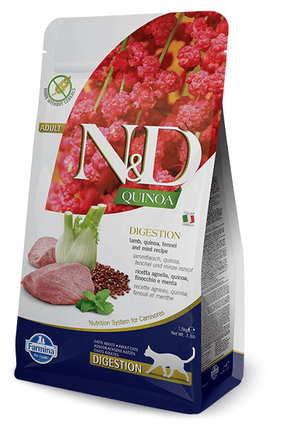 N&D Quinoa Grain Free Digestion Lamb Adult Cat Food (All Breeds)