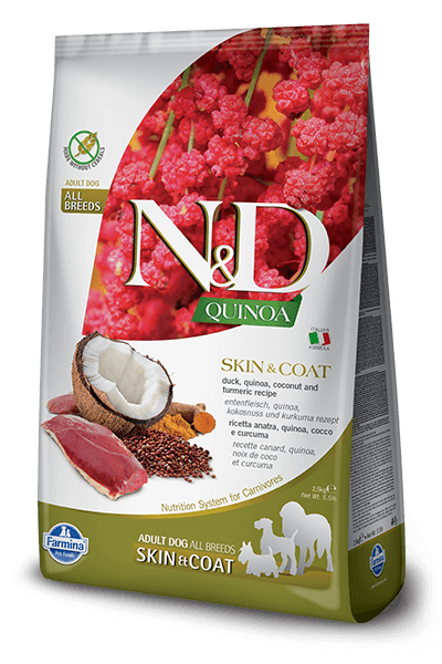 N&D Quinoa Grain Free Skin & Coat Duck Adult Dog Food (All Breeds)