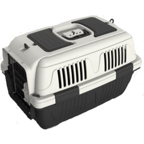 Nutra Pet Dog & Cat Carrier Box Closed Top- GREY