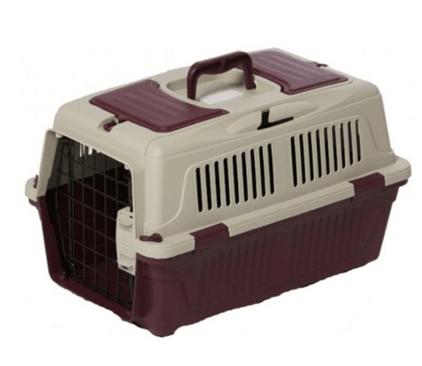 Nutra Pet Dog & Cat Carrier Box Closed Top- MAROON