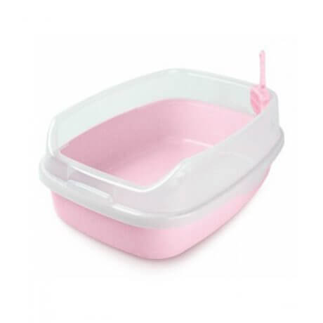 Nutra Pet Cat Toilet-XL Deodorized Cat Litter Box-PINK (46CmsX 23Cms X 62Cms)