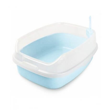 Nutra Pet Cat Toilet-XL Deodorized Cat Litter Box-BLUE (46CmsX 23Cms X 62Cms)