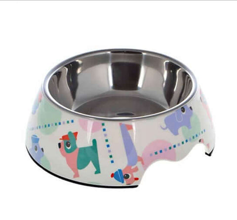 Nutrapet Applique Melamine Round Feeder Bowl