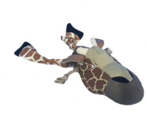 Nutra Pet Giraffe Face Dog Toy