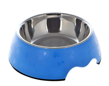 Nutra Pet Melamine Round Paw Print Feeder Bowl- BLUE