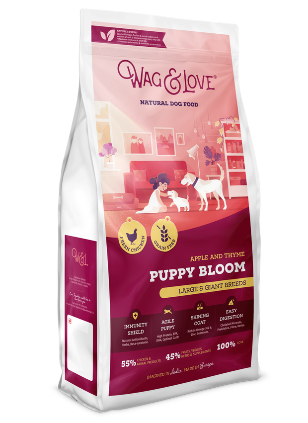 Wag & Love Natural Dog Food – Puppy Bloom (Large & Giant Breeds)