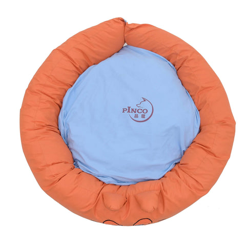 Pets Empire Round Bed For Dogs And Cats – Orange