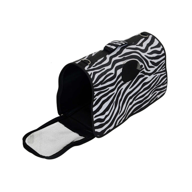 Pets Empire Fabric Pet Dog / Cat Travel Carrier Bag – Black & White