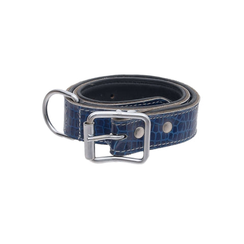 Pets Empire Textured Adjustable Dog Collar – Blue