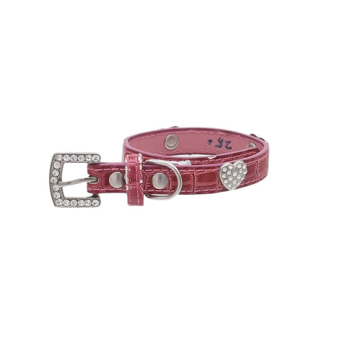 Pets Empire Adjustable Dog Collar with Stone Studs – Pink