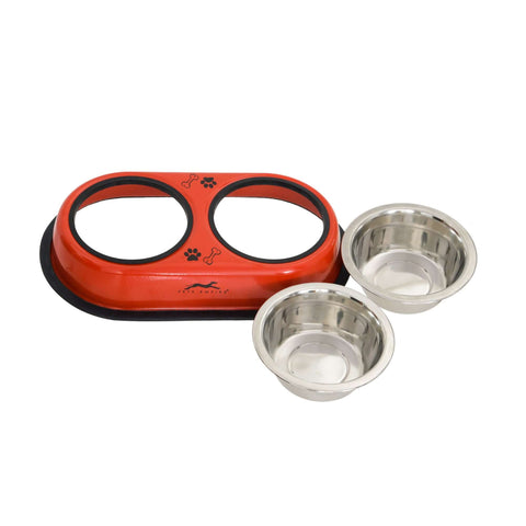 Pets Empire Double Diner For Dogs – Red