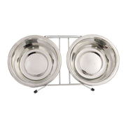 Pets Empire Stainless Steel Double Diner With Stand For Dogs And Cats
