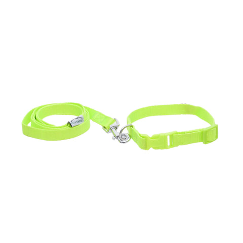 Pets Empire Adjustable Nylon Puppy Collar And Leash For Small Dogs And Cats
