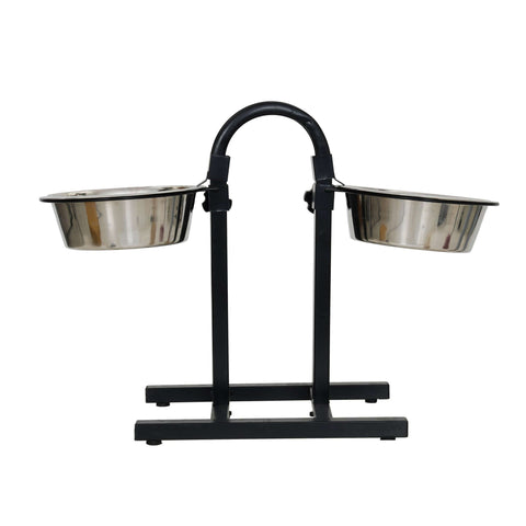 "Pets Empire Adjustable ""U"" Double Diner Feeding Set With Food Bowls For Dogs"