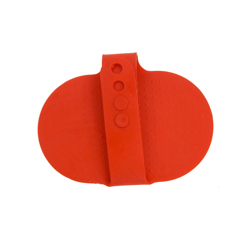 Pets Empire Rubber Cleaning / Massaging / Grooming Brush For Pets – Red