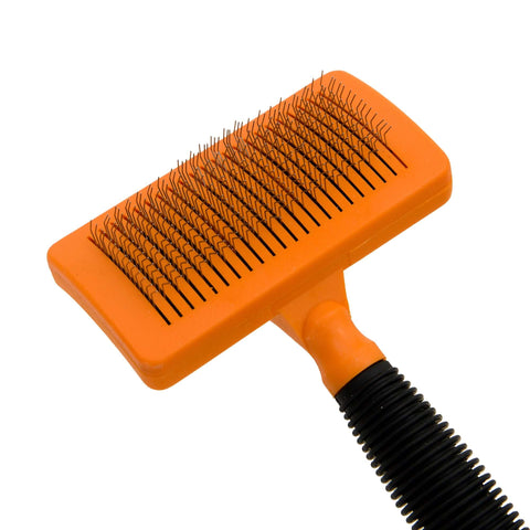 Pets Empire Steel Slicker Grooming Brush For Dogs And Cats – Orange