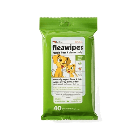 PetKin Flea Wipes (40 Wipes)