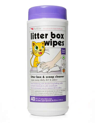 PetKin Litter Box Wipes (40 Wipes)