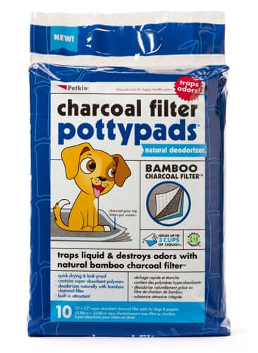 PetKin Charcoal Filter Potty pads (10 Pads)