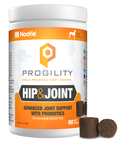 Progility Hip & Joint With Probiotics – 90 Soft Chews For Dogs