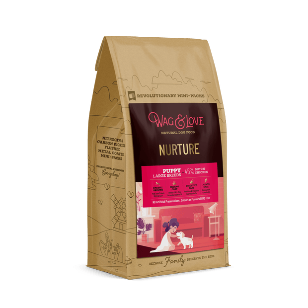 Wag & Love Natural Dog Food- Nurture Puppy (Large & Giant Breeds)