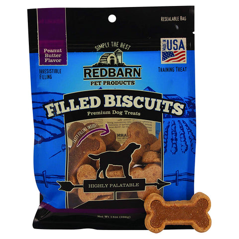 RedBarn Filled Biscuits Peanut Butter Flavor For Dogs (396 gms)